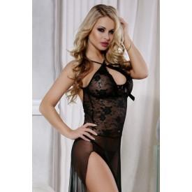 Длинное платье с высоким разрезом